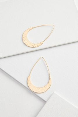 metal crescent earrings