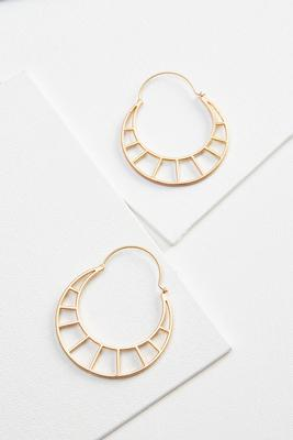 cut out geo hoop earrings