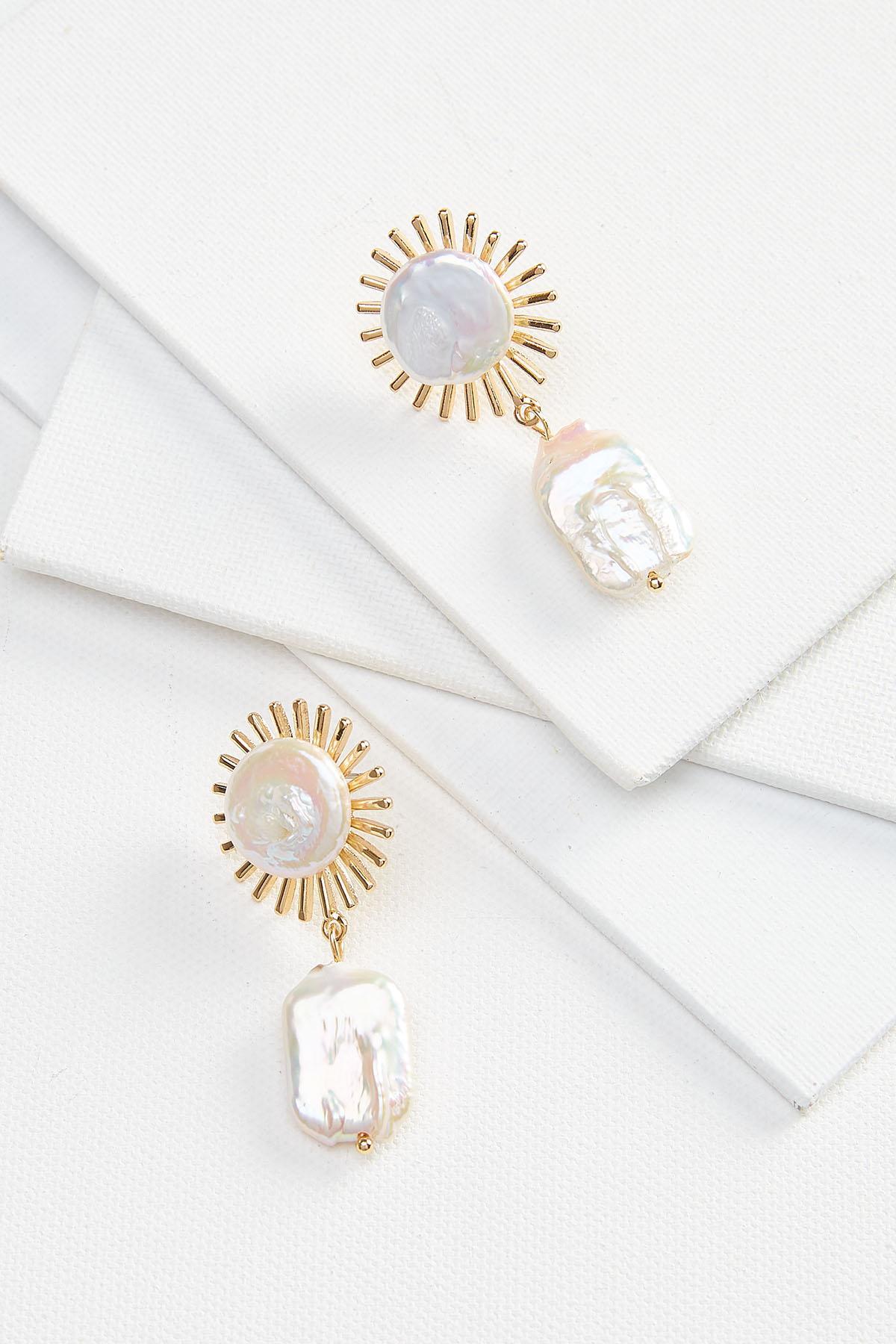 Starburst Pearl Earrings