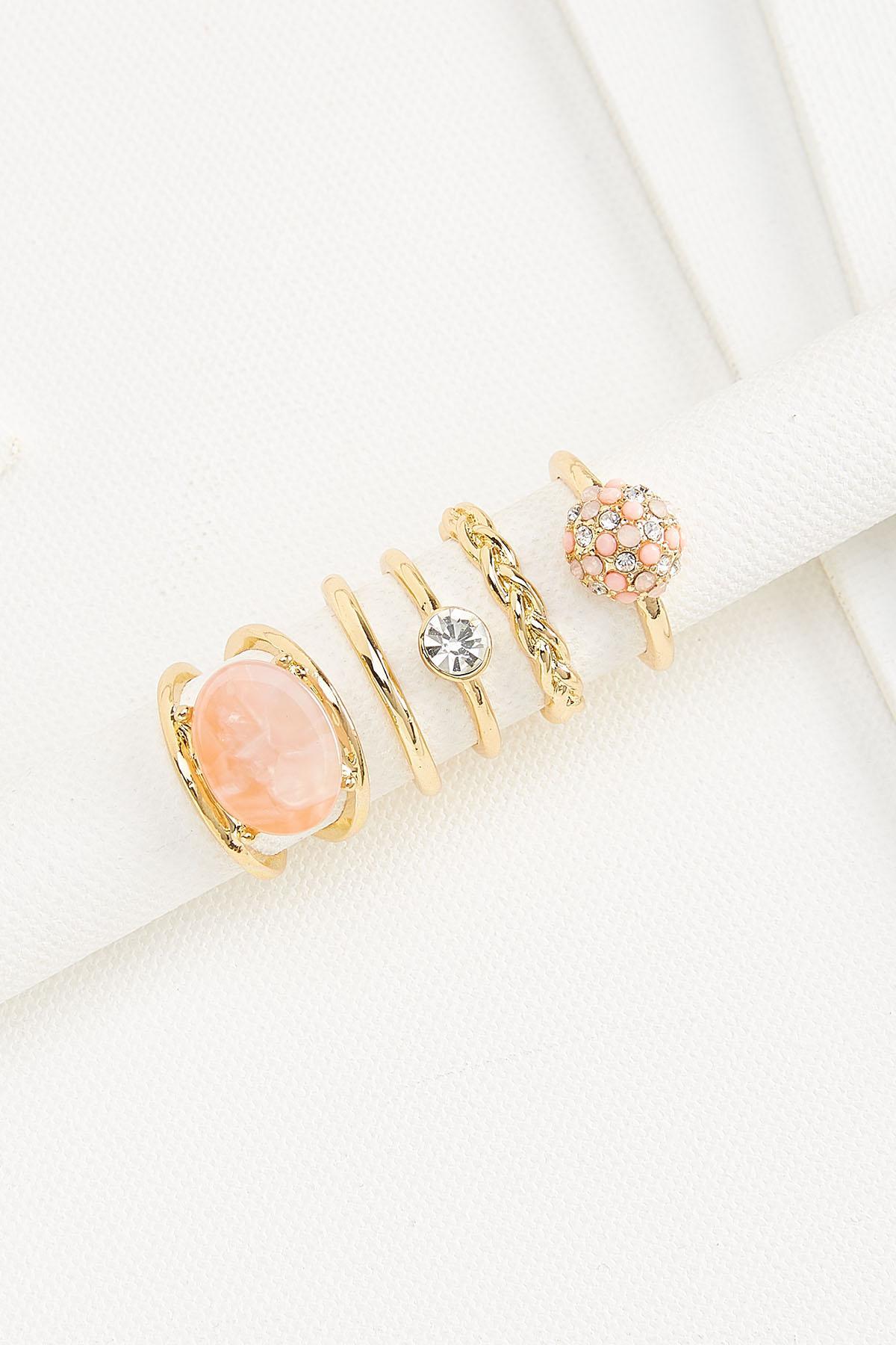 Rose Gold Stacked Ring Set
