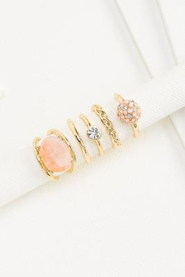 rose gold stacked ring set
