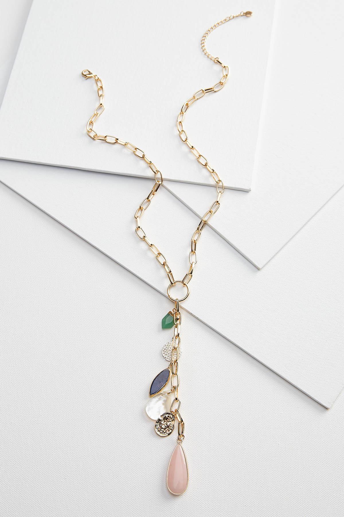 Semi Precious Stone Y- Necklace