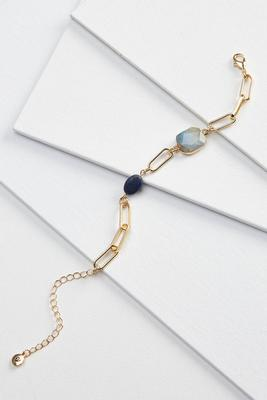 stone and chain bracelet