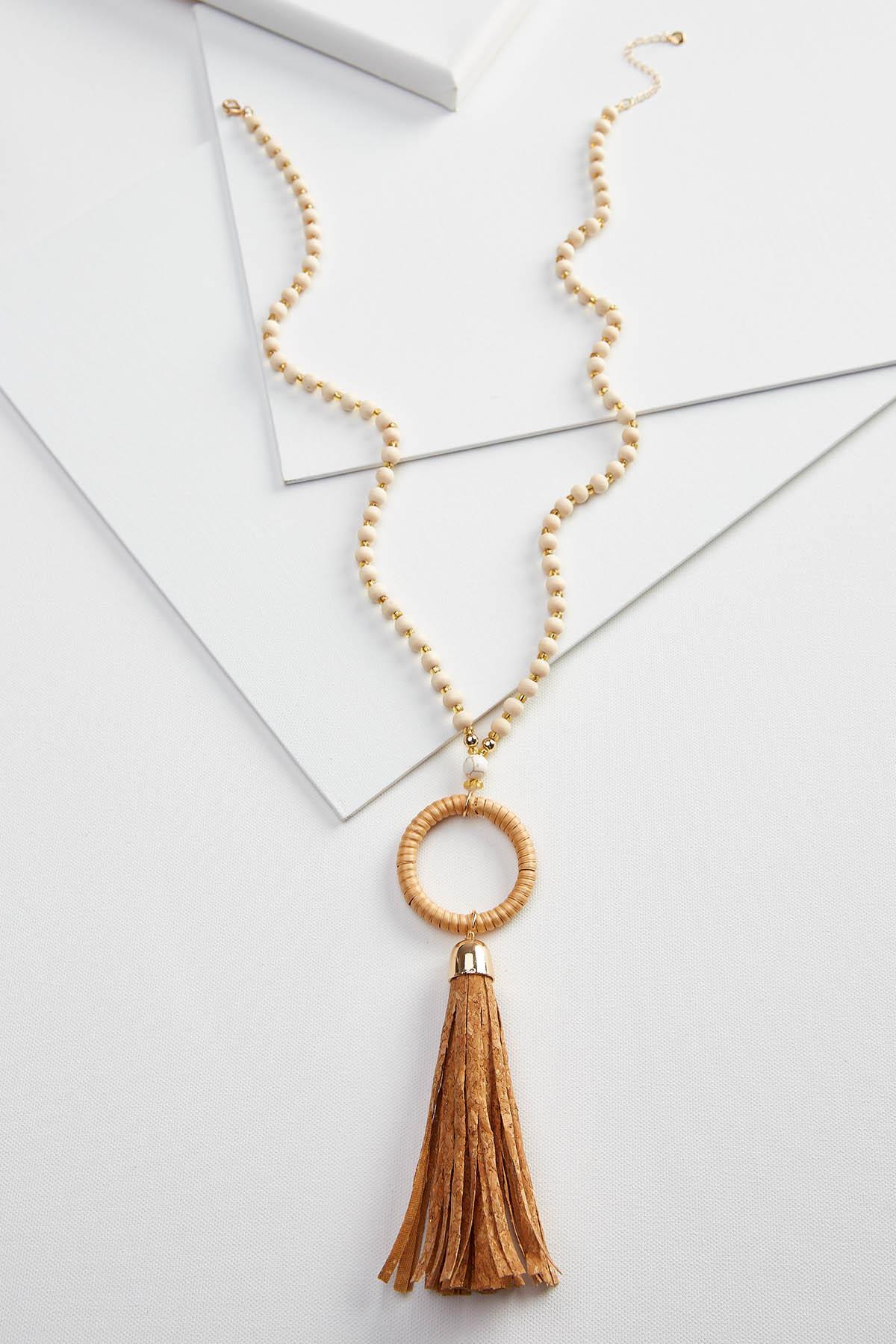 Cork Tassel Necklace