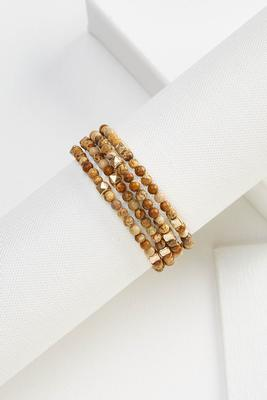stone coil bracelet