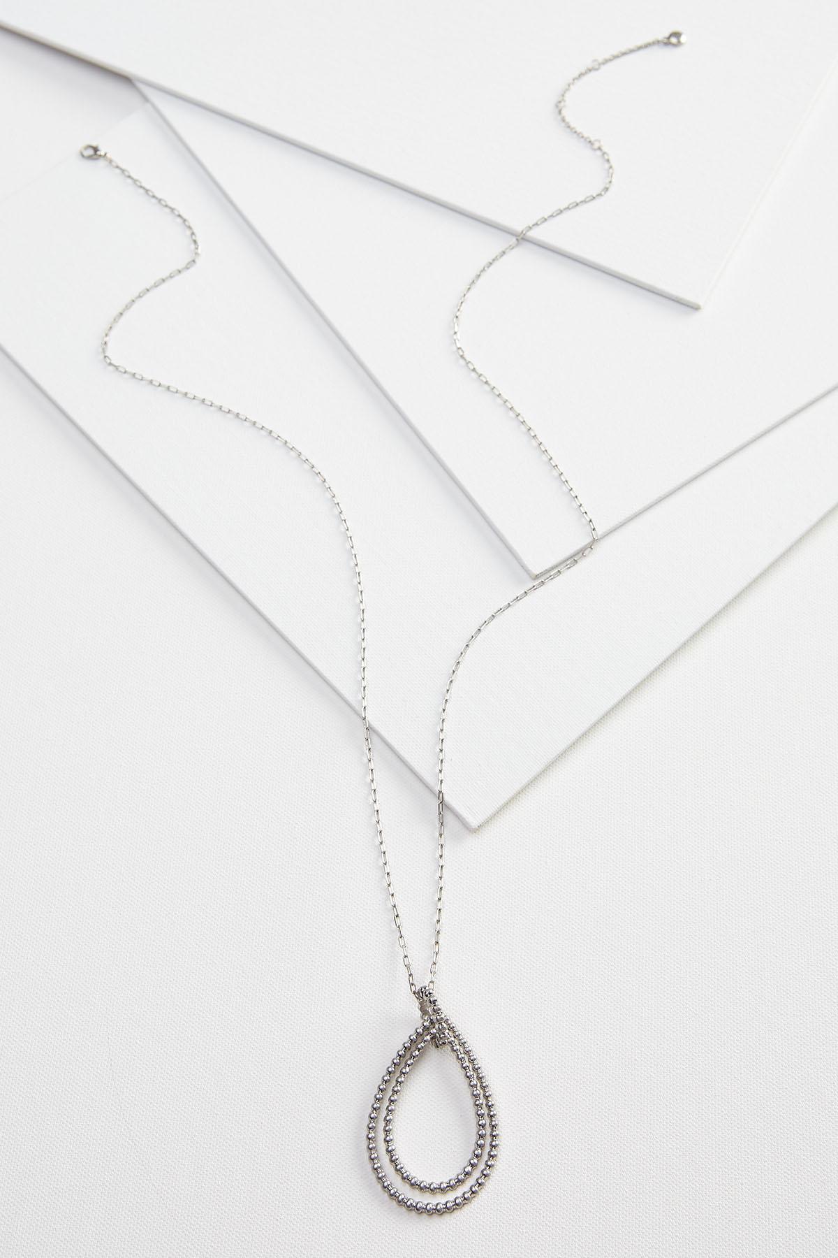 Metal Tear Pendant Necklace