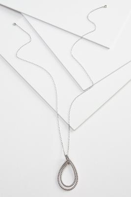 metal tear pendant necklace