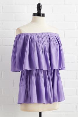 pleats and thanks top