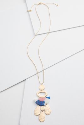 golden disc necklace