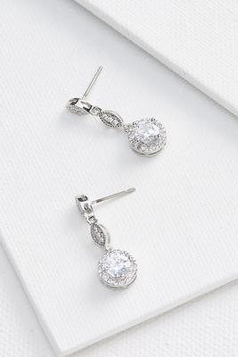 glitzy drop earrings