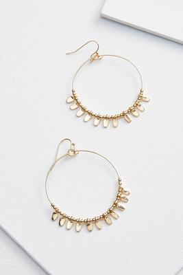 shaky beaded hoops