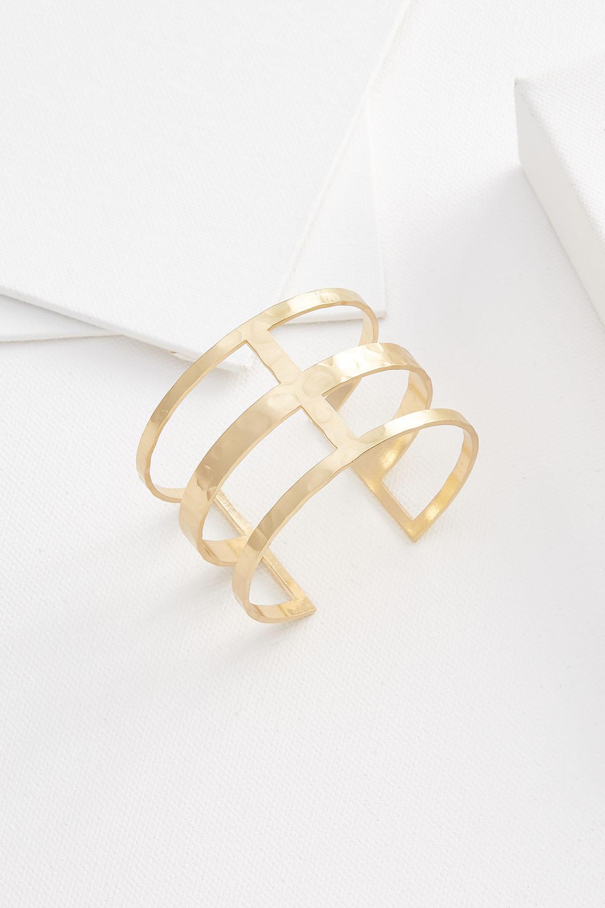 Open Geo Cuff Bracelet
