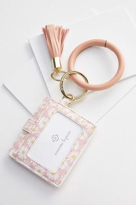 floral card holder keychain