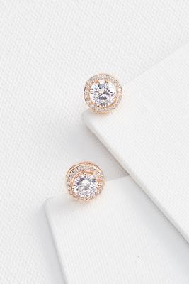 large sparkle stud earrings