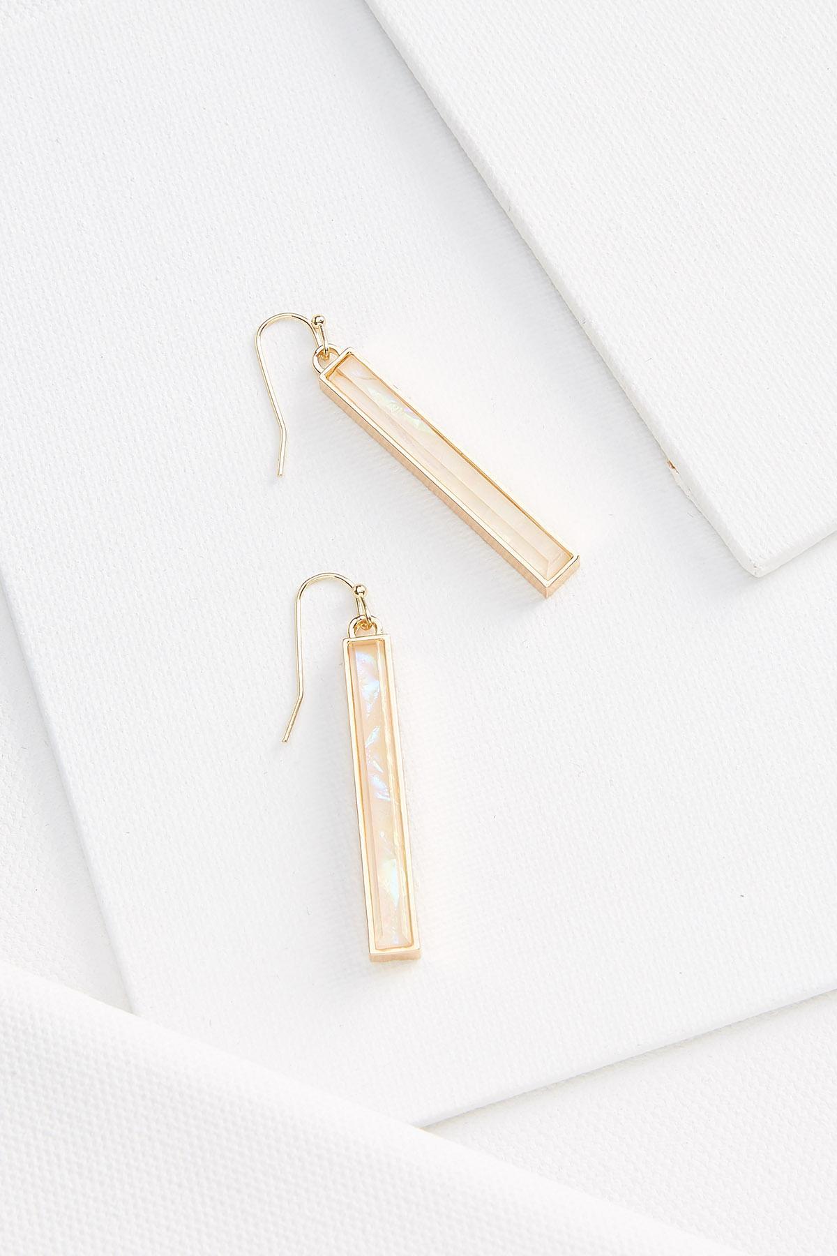 Foiled Linear Earrings
