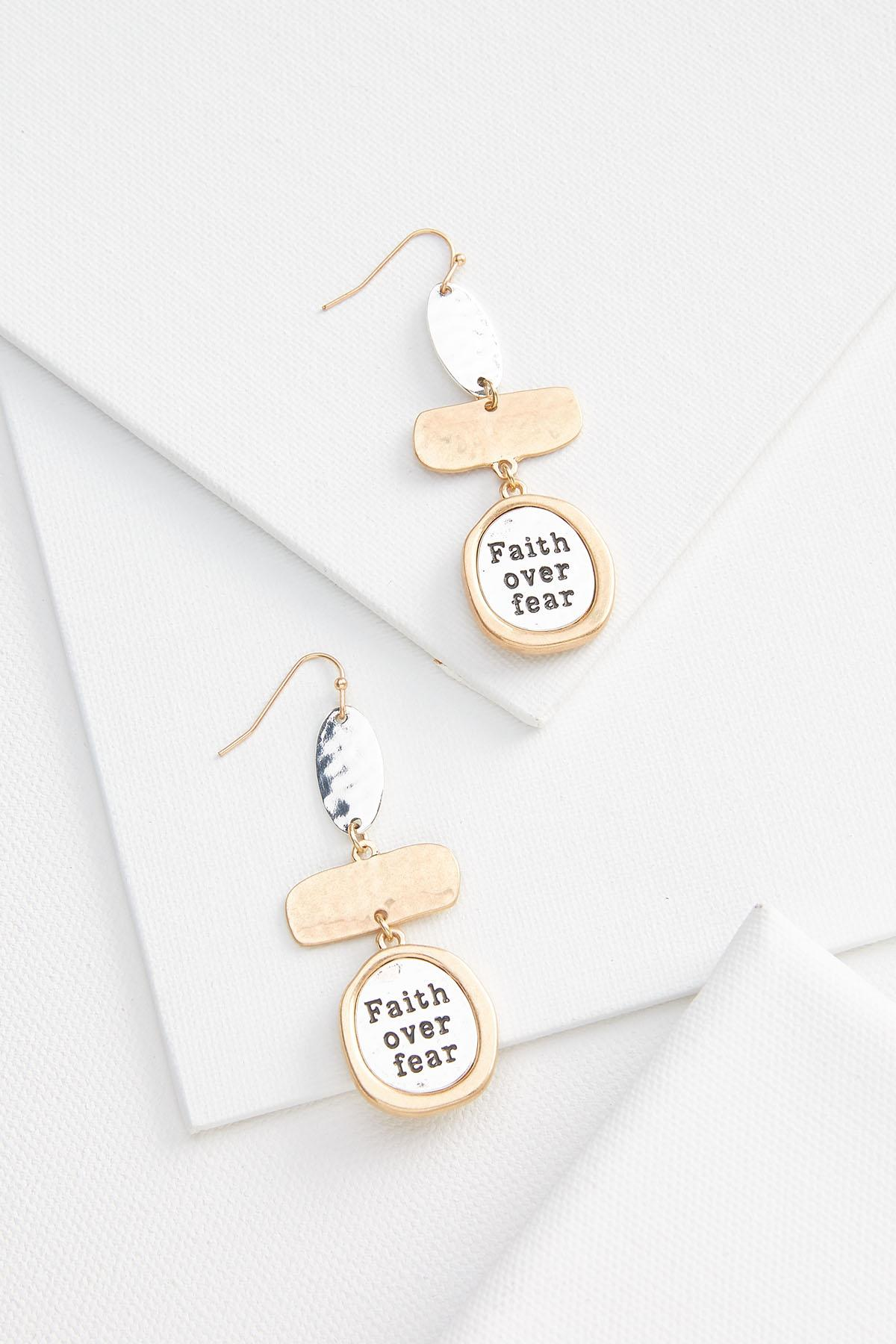 Faith Over Fear Earrings