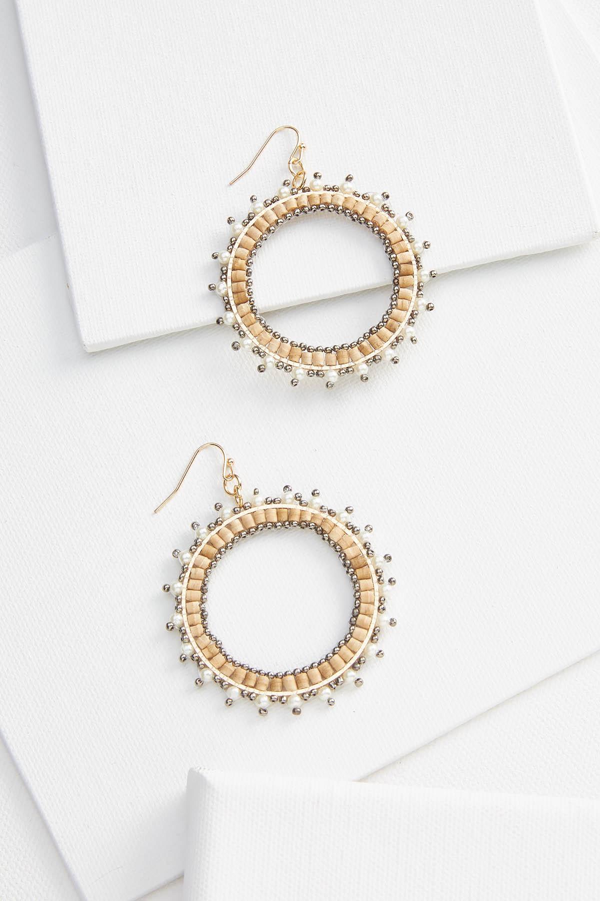 Natural Sunburst Earrings