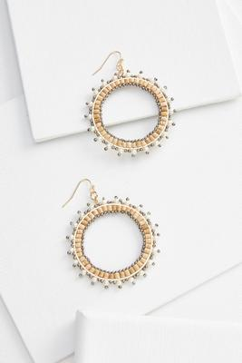 natural sunburst earrings