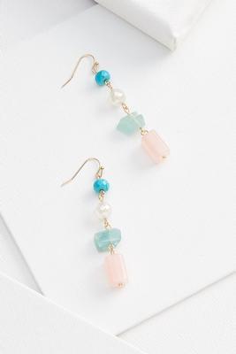 mixed beaded earrings