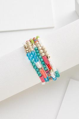 chunky colorful bracelet set