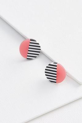 colorblocked stripe earrings