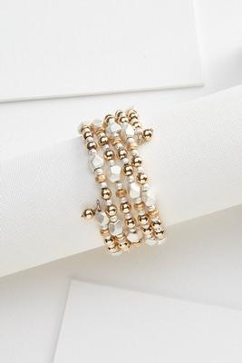 glam and gold coil bracelet