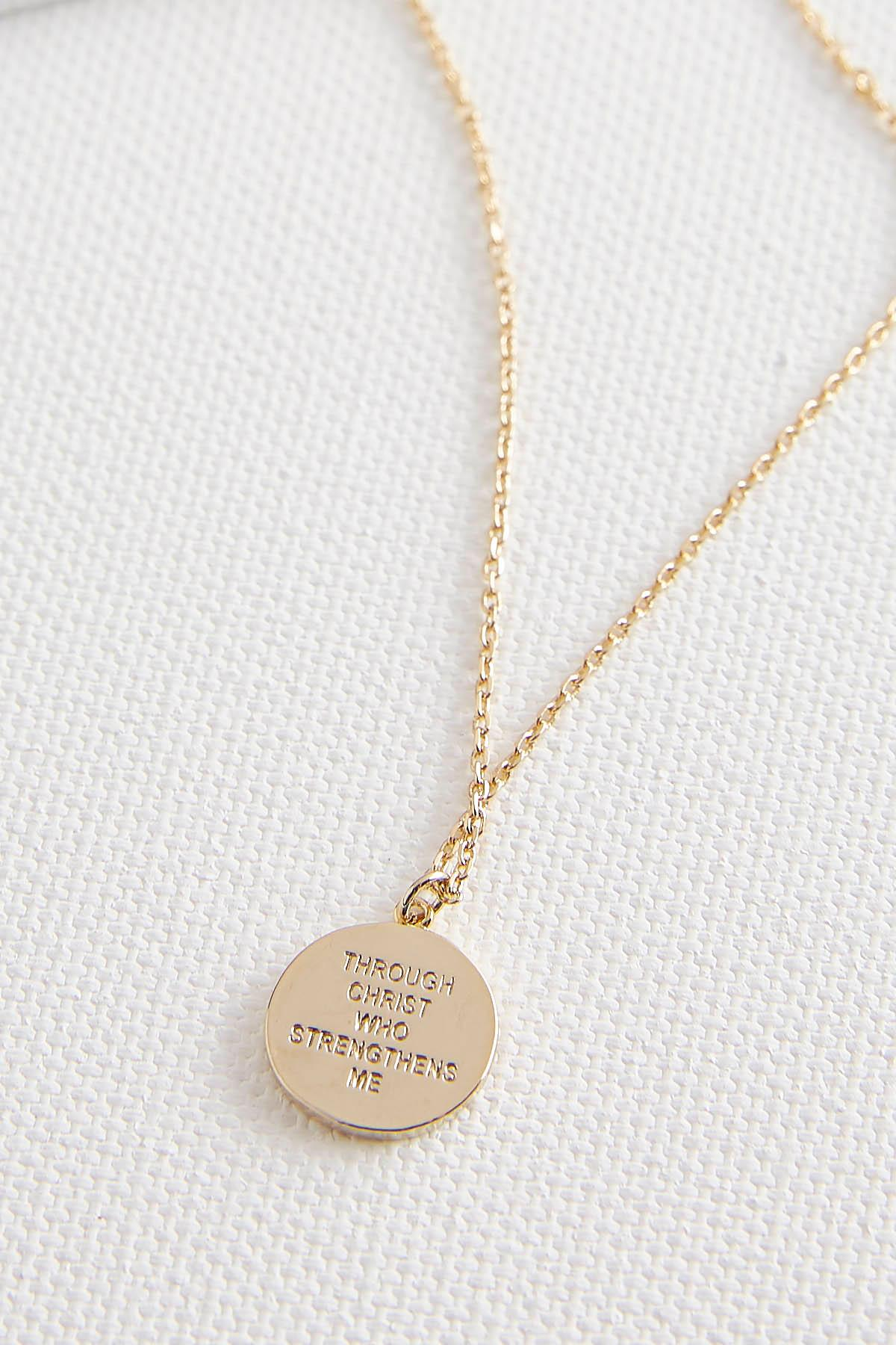 Inspirational Disk Pendant Necklace