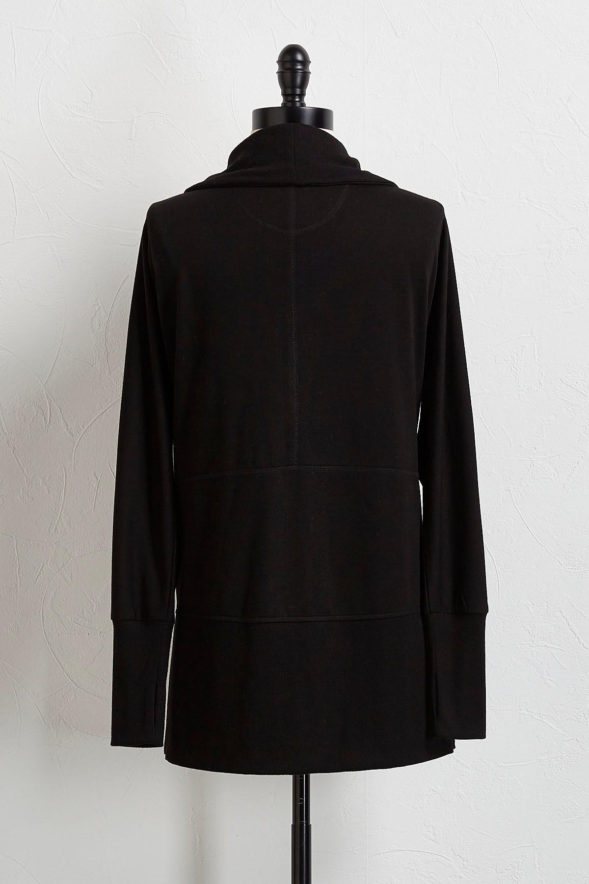 Versona | solid draped cardigan