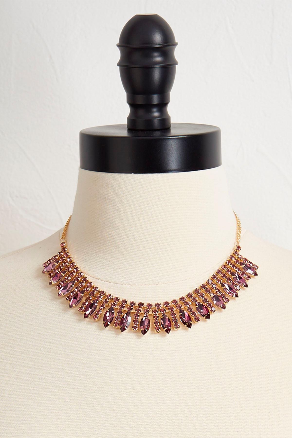 Rhinestone Marquis Bib Necklace