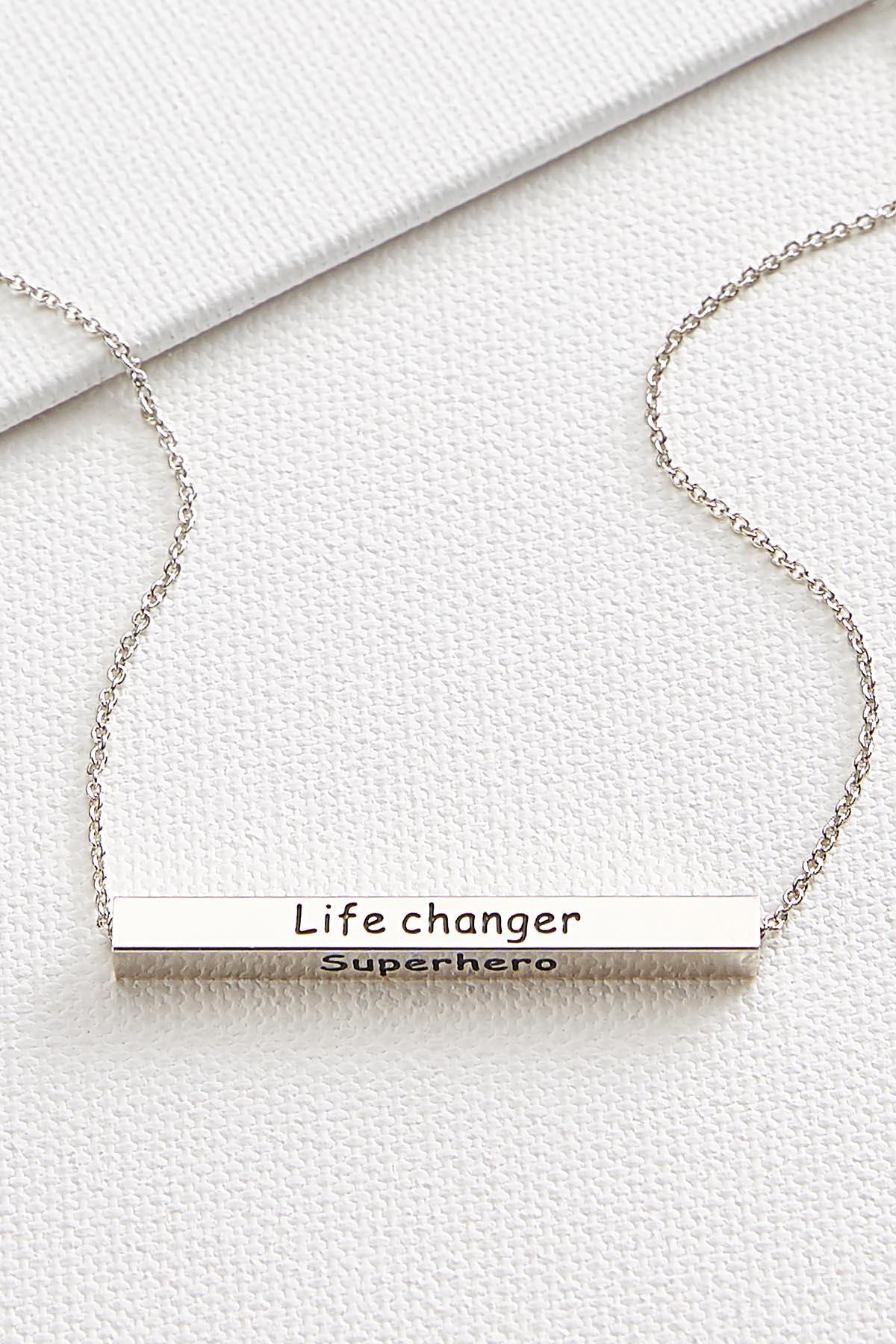 Teacher Horizontal Flip Bar Necklace