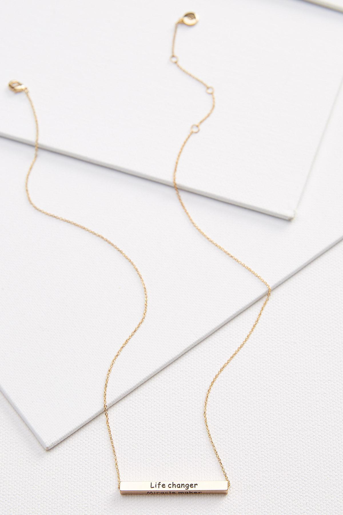 Mother Flip Bar Pendant Necklace