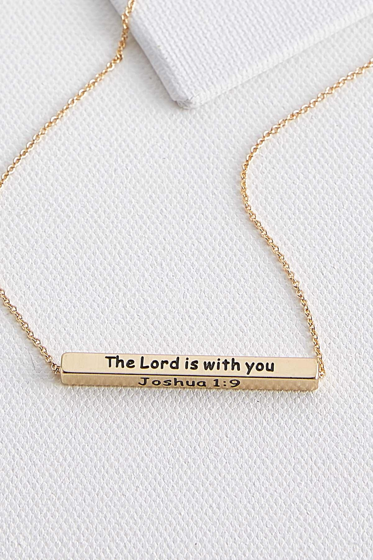 Be Strong And Courageous Pendant Necklace