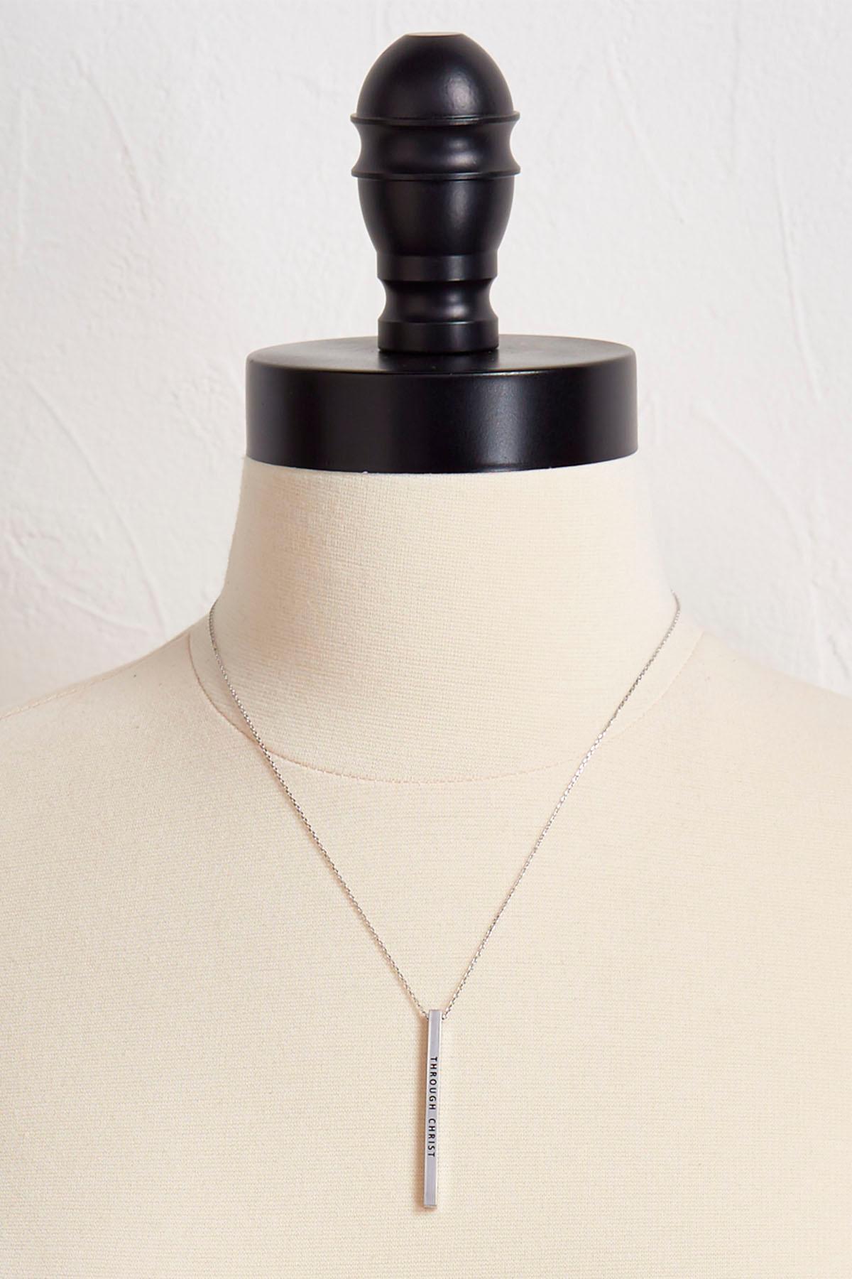 Versona inspirational bar pendant necklace inspirational bar pendant necklace aloadofball Choice Image