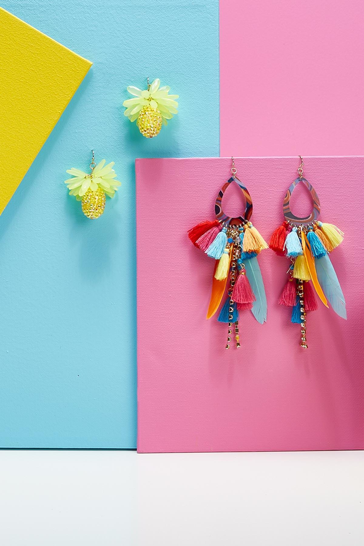 Beaded Pineapple Earrings
