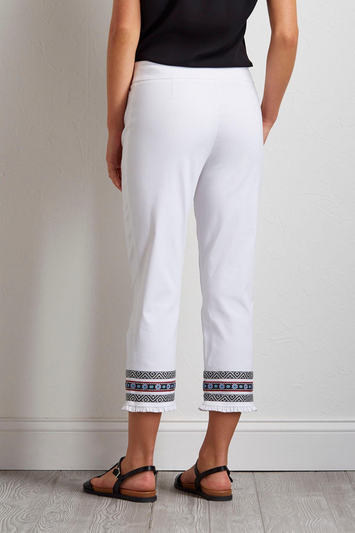 Cropped Aztec Bengaline Pants
