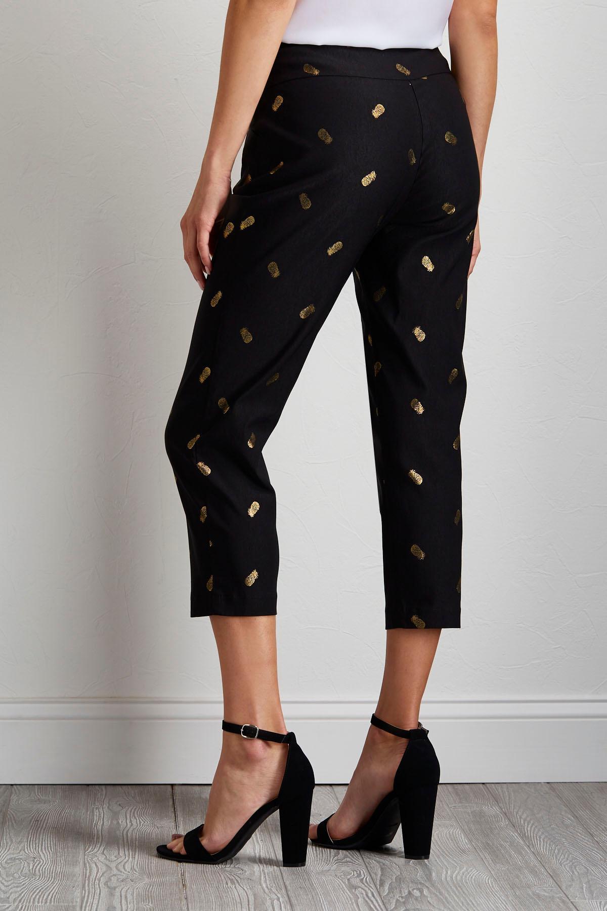 Cropped Pineapple Bengaline Pants