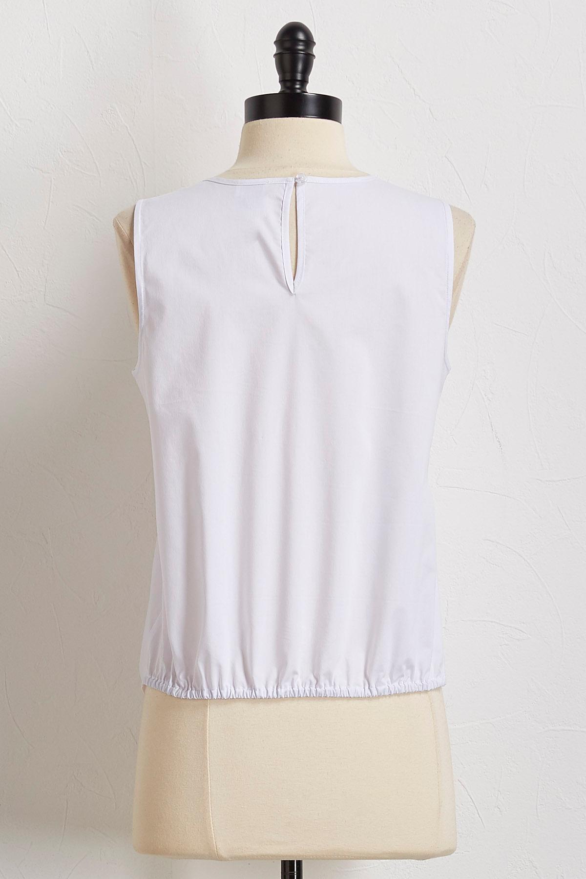 Tie Waist Poplin Shirt
