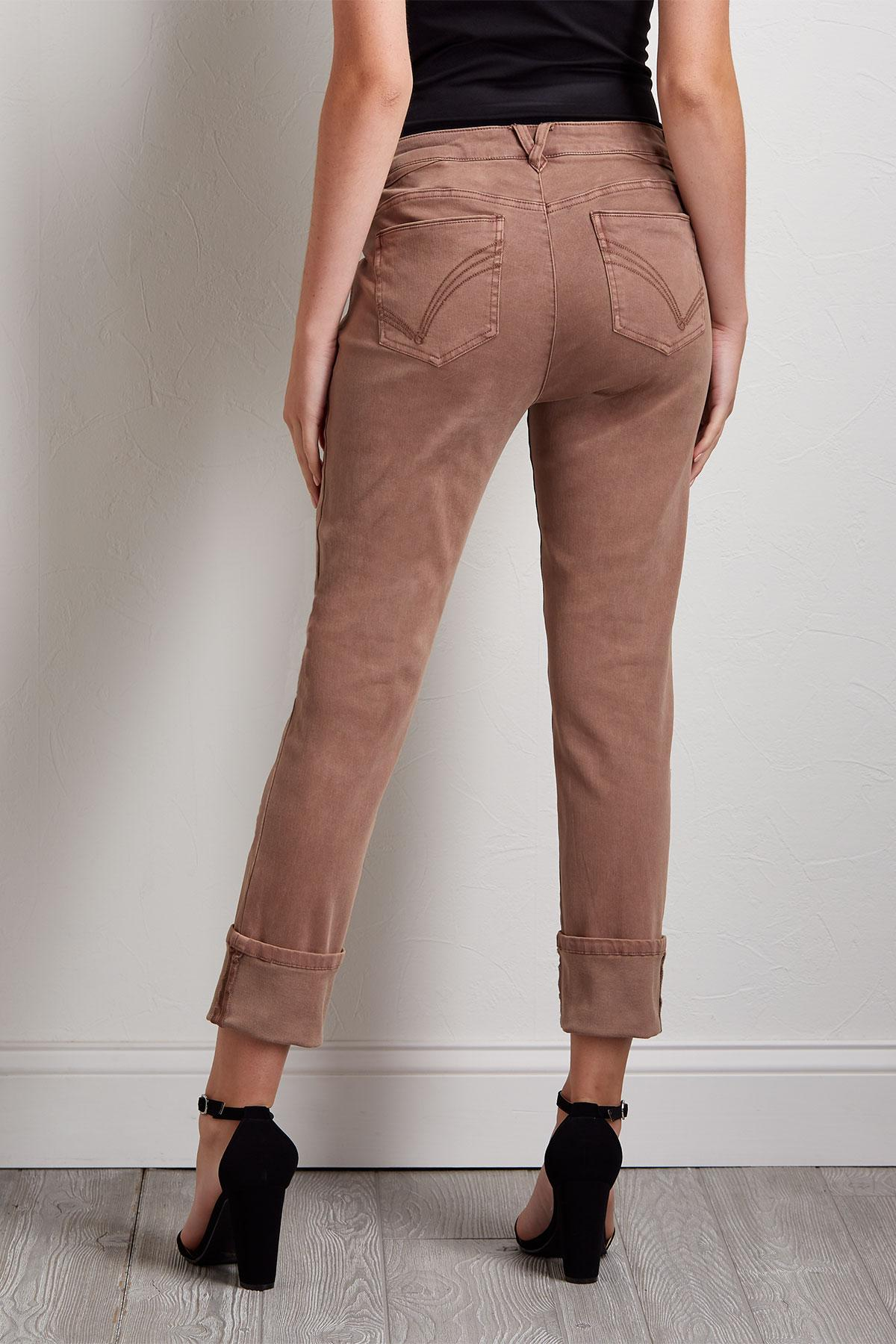 Wild Rose Girlfriend Jeans