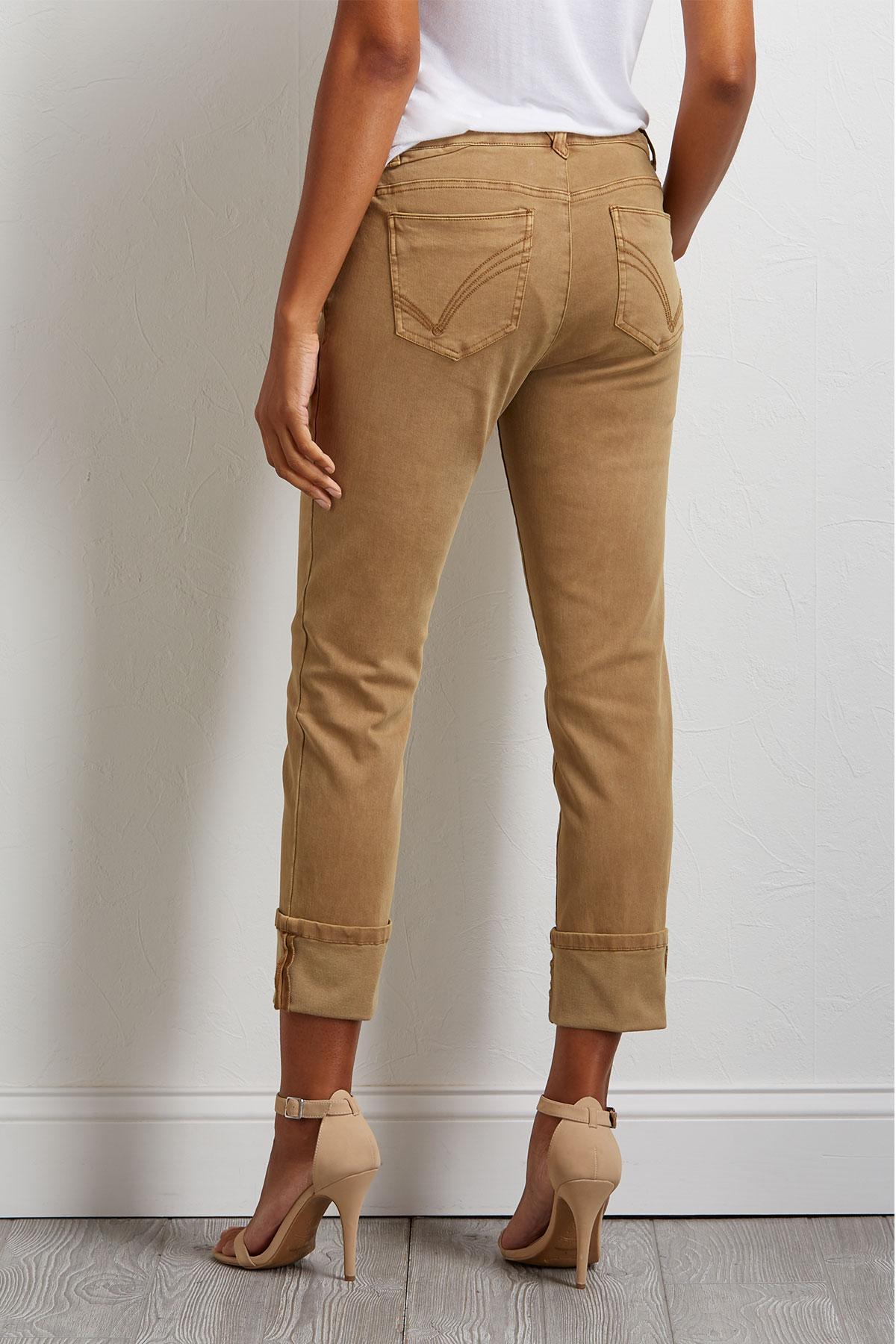 Cropped Girlfriend Woven Pants