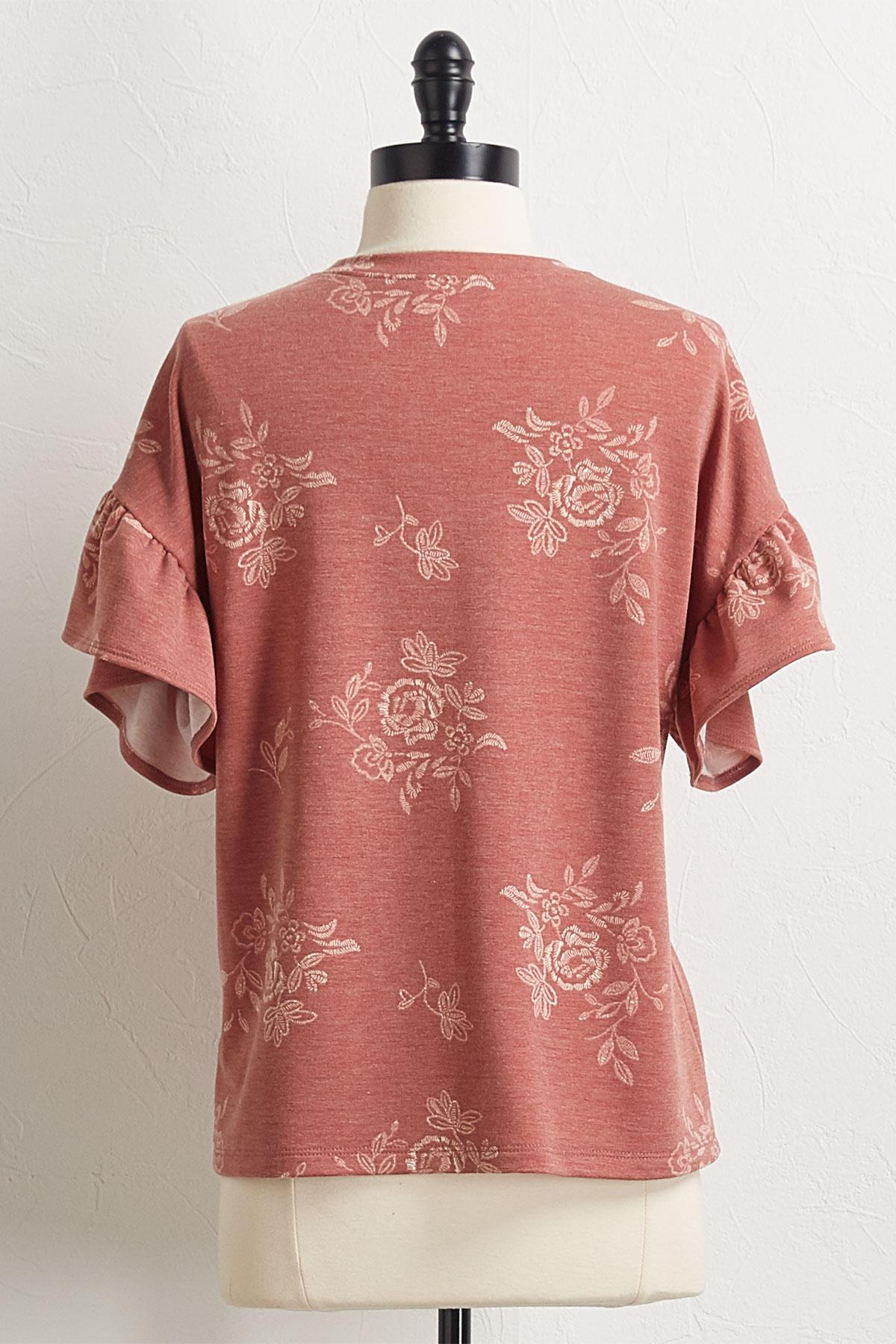 Floral French Terry Top