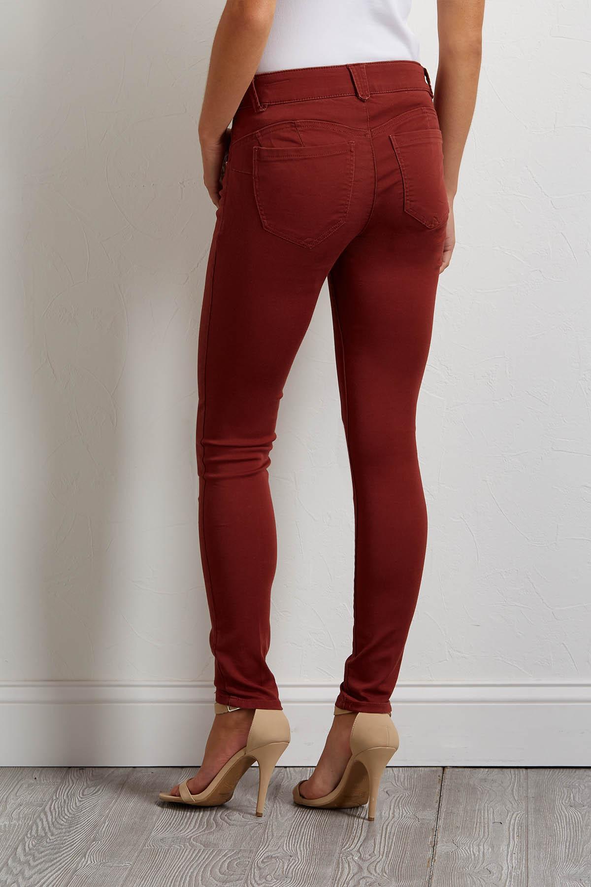 Shape Enhancing Twill Pants