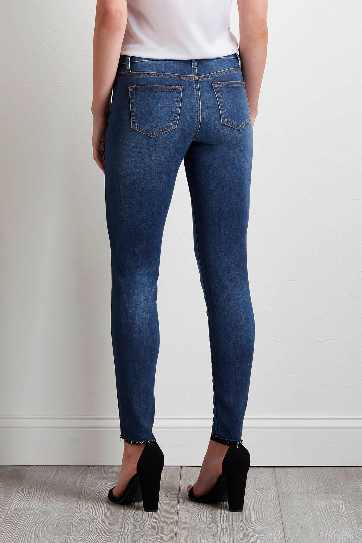 Seamed Front Skinny Jeans