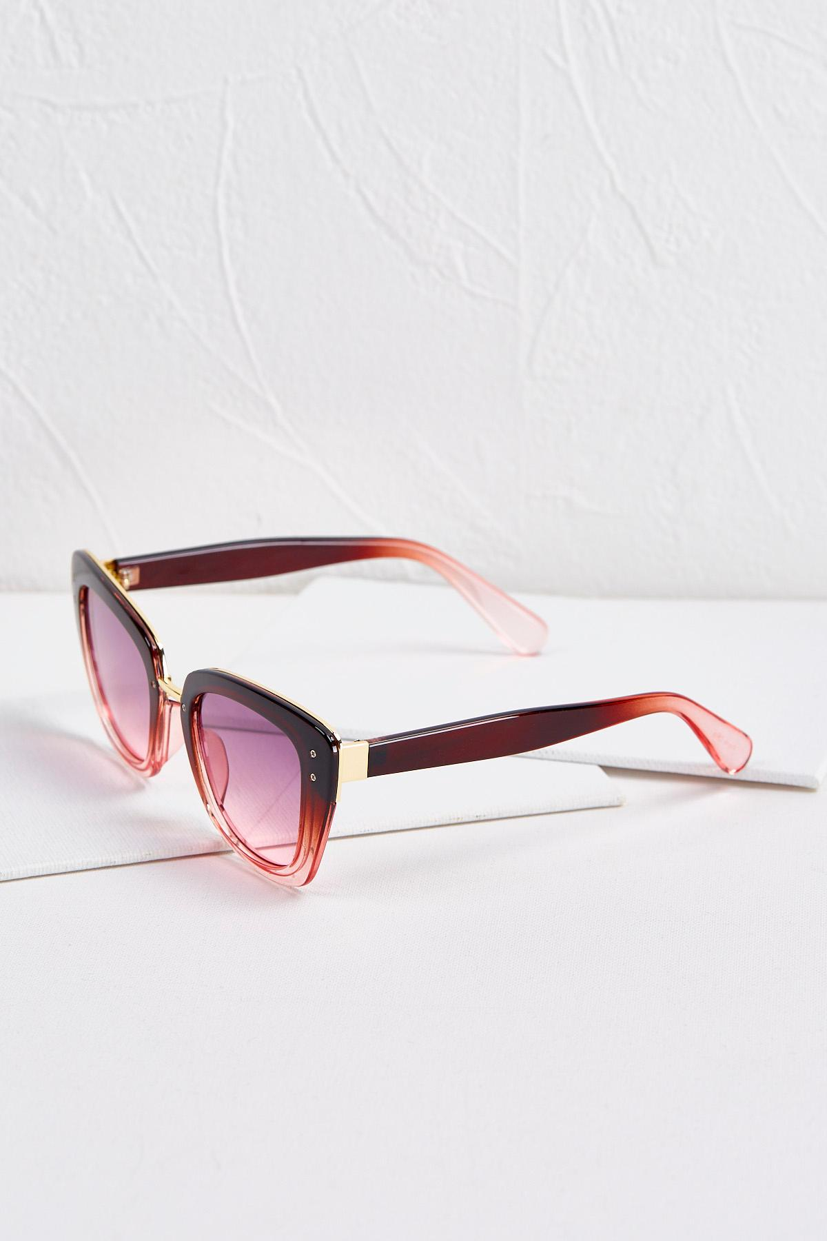 Gradient Pink Cat Eye Sunglasses