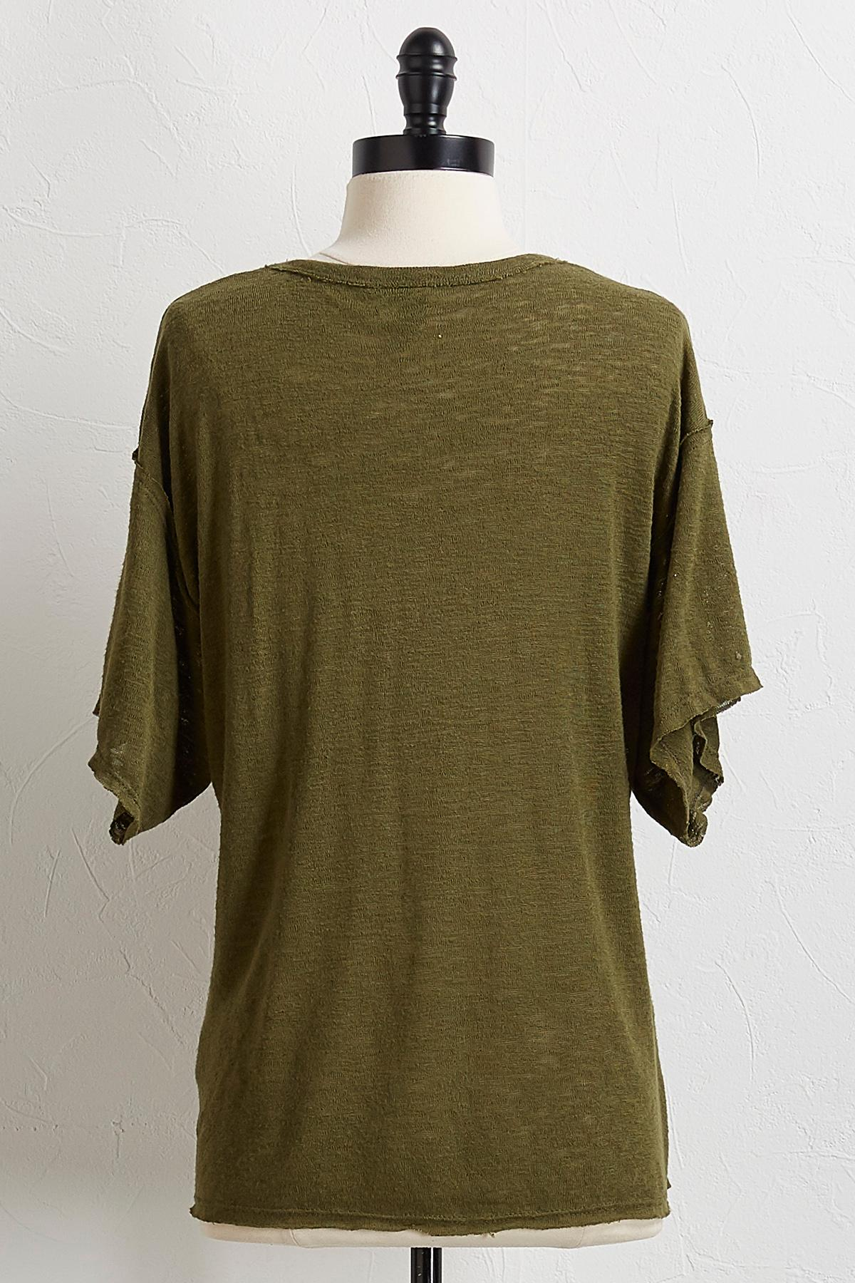 Solid Raw Edge Tee