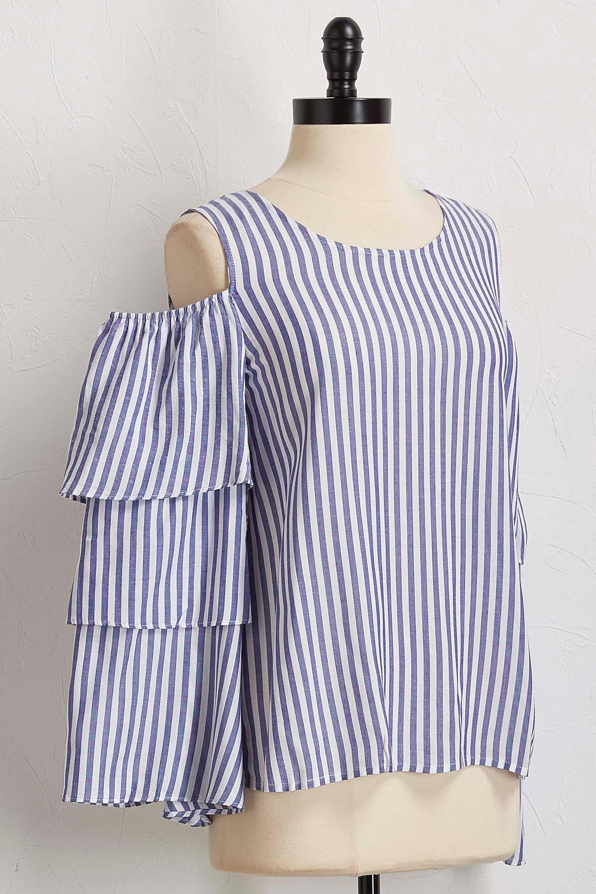 Striped Bare Shoulder Top