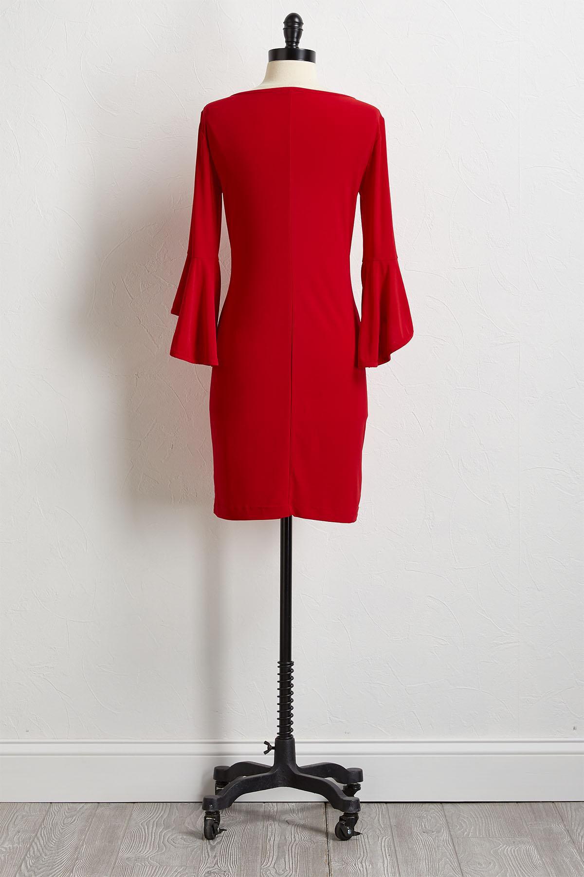 Bell Sleeve Sheath Dress