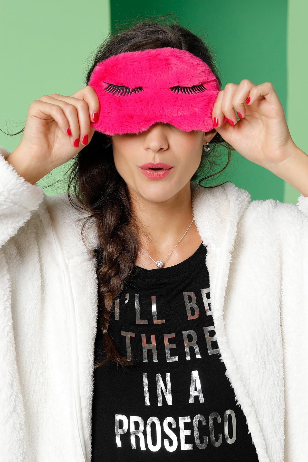 Faux Fur Eyelash Sleep Mask