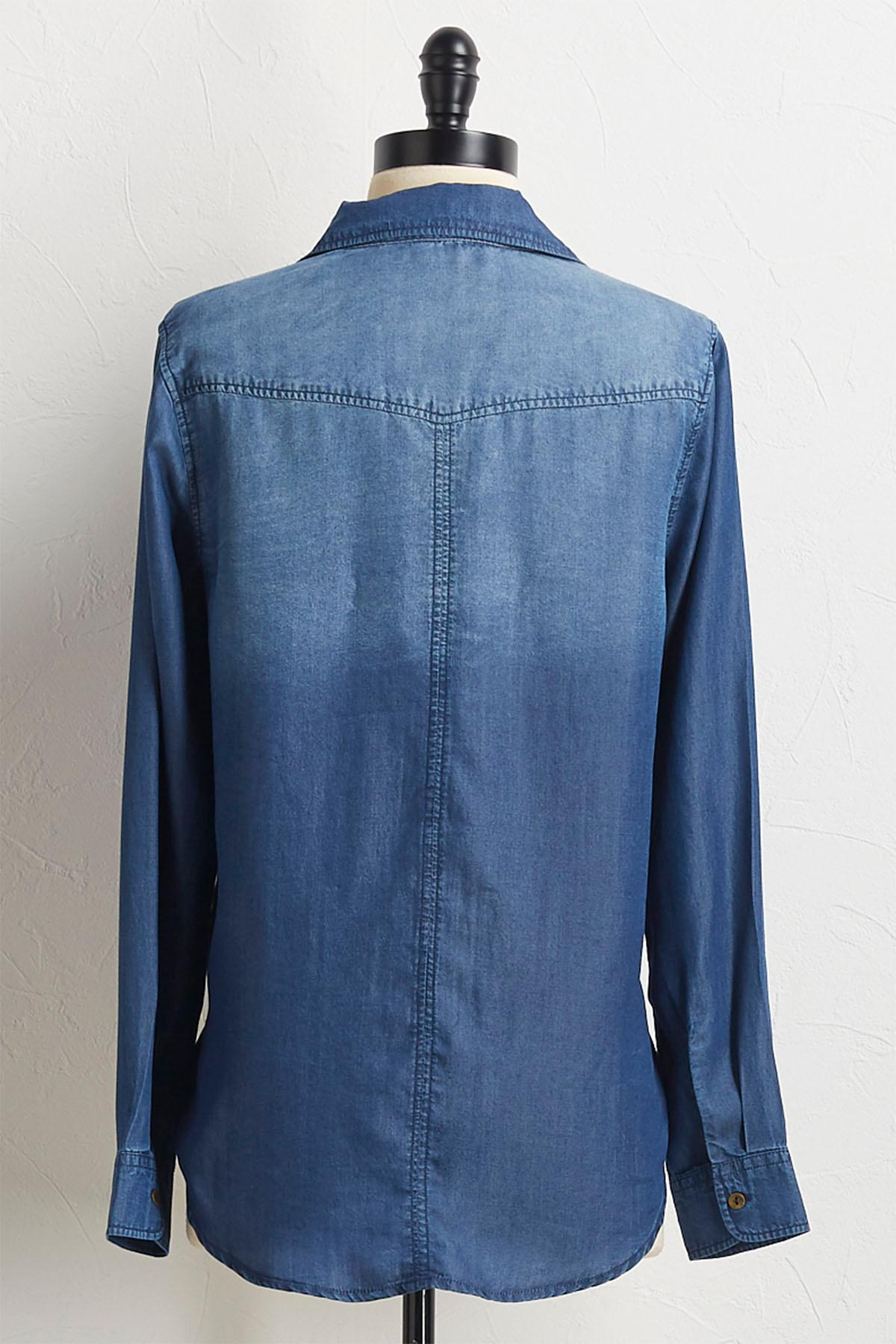 Button Down Chambray Tunic