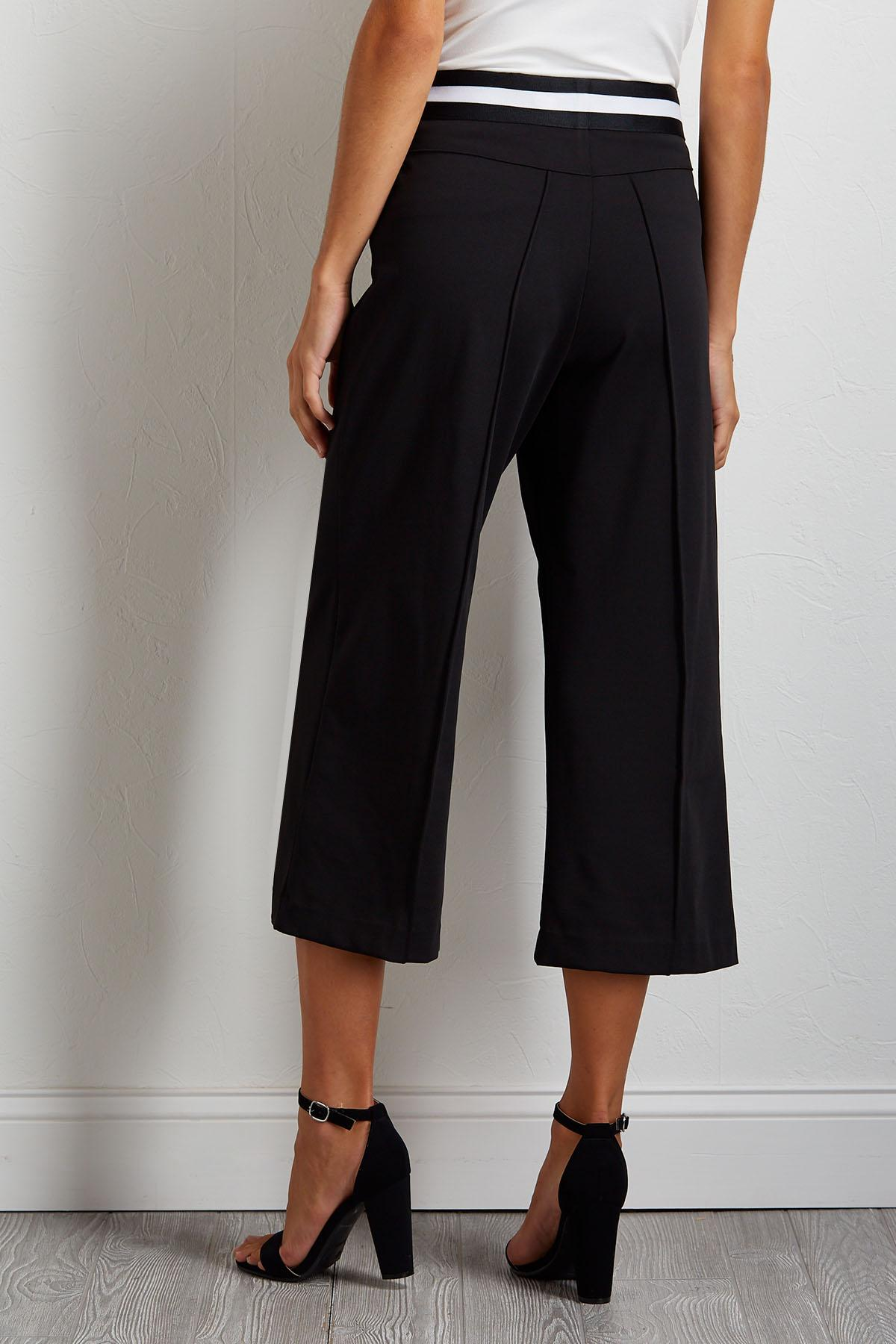 Cropped Sport Stripe Pants