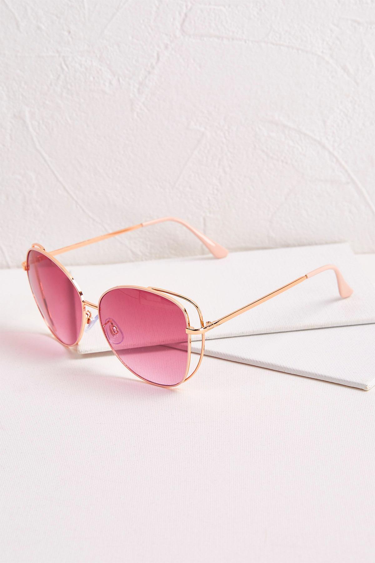 Pink Metal Sunglasses